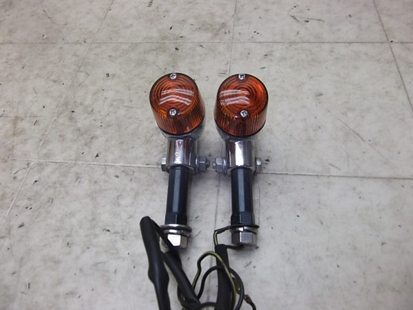 バリオス250/ BALIUS250 社外/ 汎用  フロントウインカー左右/ 丸オレンジレンズ  ZR250A-0246